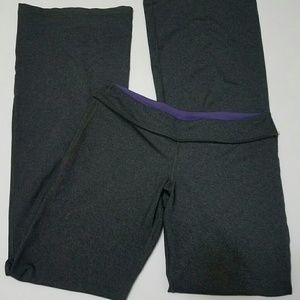 8 Gray Lululemon Long Flare Yoga Pants